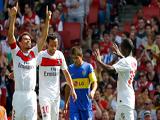 Boca jugó muy mal y perdió 3-0 con el París Saint Germain en la Emirates Cup