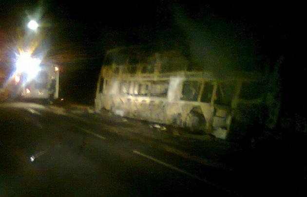Se incendió un colectivo en el camino de las Altas Cumbres — Córdoba