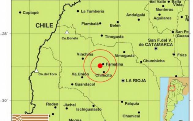 Terremoto de 5,5 grados sacude noroeste de Argentina