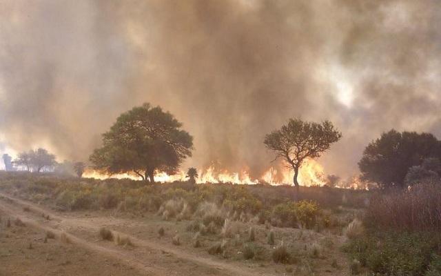 Hay dos hombres detenidos por los incendios en Córdoba
