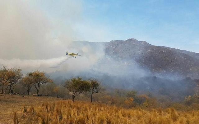 Incendios: Santa Fe envía brigadistas a Córdoba