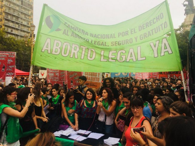 Convocan a una marcha al Congreso a favor del Aborto Legal