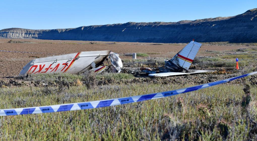 Murió el copiloto de la avioneta que cayó en Chubut